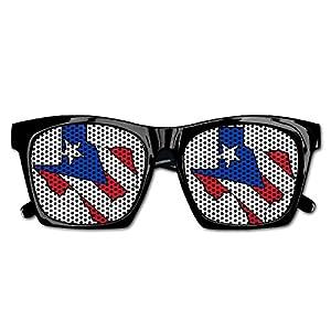 Texas Outline Puerto Rico Flag Unisex Polarized Party Sunglasses Resin Frame Eyewear Favor Mesh Lens Sun Glasses
