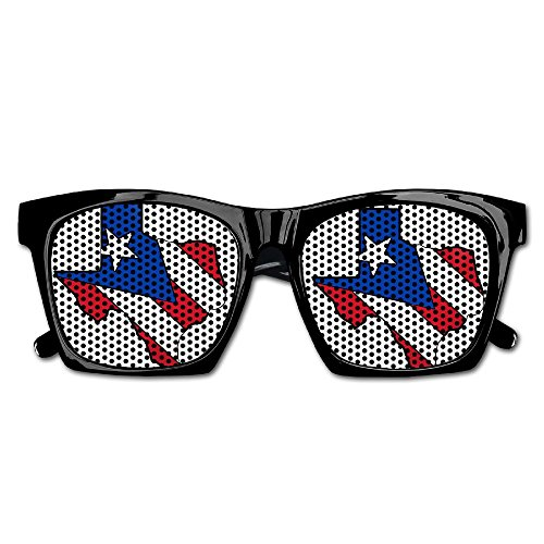 Texas Outline Puerto Rico Flag Unisex Polarized Party Sunglasses Resin Frame Eyewear Favor Mesh Lens Sun - Outline Sunglasses