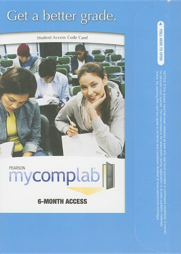 MyCompLab -- Standalone Access Card (6-month access)...