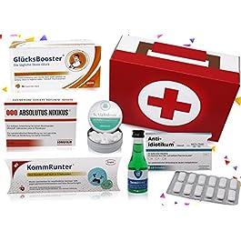 Erste Hilfe Set Geschenkbox, witziger Sanikasten | 7-teilig