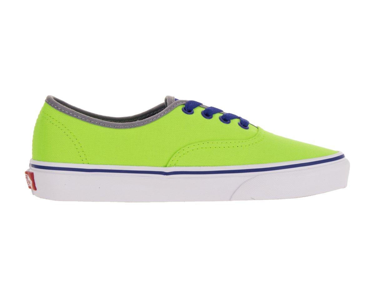 Vans Authentic B0198WRY4A 10.5 D(M) US|Neon Green/Blue