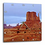 Cheap 3dRose USA Arizona Sandstone Formations in Monument Valley Wall Clock, 10 by 10″