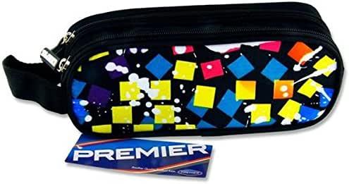 Premier Stationery C5615945 - Estuche ovalado con 2 bolsillos y cremallera, diseño de cuadros, color azul: Amazon.es: Oficina y papelería