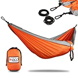 "1) Package: In package is included Hammock with carry bag, two steel carabines and two ropes 70"" for hanging of Hammock. Adjustable Straps shown on photos 3&4 are sold separately, as additional Hammock Accessories. 2) Material: Super stro..."