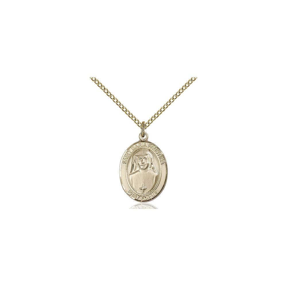 Maria Faustina Pendant DiamondJewelryNY 14kt Gold Filled St