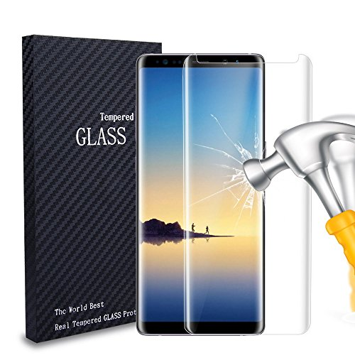 Galaxy Note 8 Screen Protector,AndHot Samsung Note 8 Screen Protector Glass Full Screen Coverage Case Friendly Curved Tempered Glass Screen Protectors for Samsung Galaxy Note 8