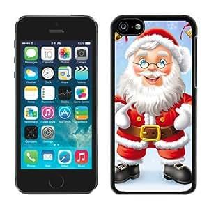 Featured Desin Iphone 5C TPU Case Santa Claus Black iPhone 5C Case 33