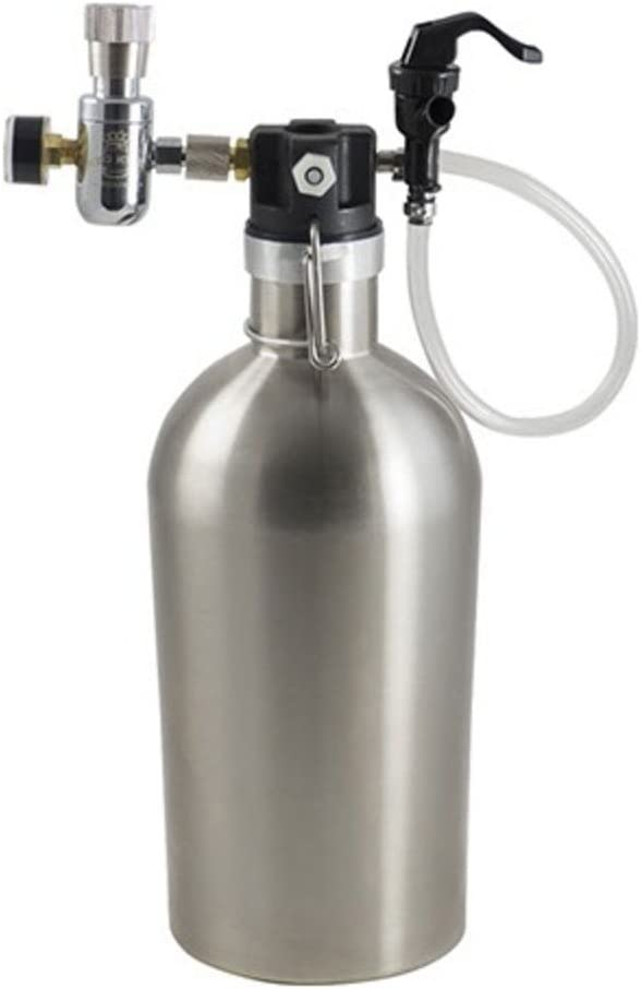 Keg King Ultimate Draft Growler - 2 Liters Complete with CO2