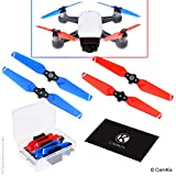 Propellers for DJI Spark - 1 Set (4 Blades) - Red and Blue - With Convenient Storage Box - Quick Release Foldable Wings - Flight Tested Design - Essential Accessory For Your DJI Spark Drone