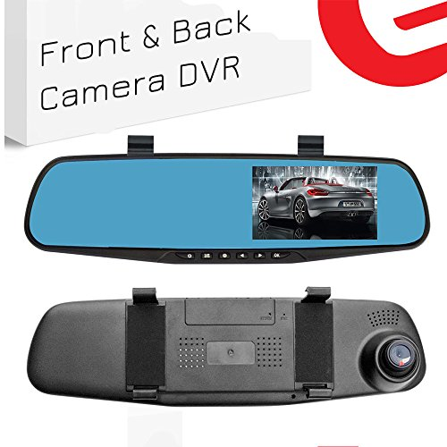 Ezonetronics Car Camera | Car Video Recorder Full HD 1080P | Car Video Camera 4.3 Inch LCD with Dual Lens for Vehicles Front & Rearview Mirror | DVR Vehicles Dash Cam 2010 (2010 Rear View Mirror)