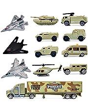 deAO 12-delars Militärfordon lekset – stealth-bombflygplan, stridsvagn, helikopter, jetflyg med mera!