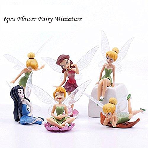 fannuoyi 6X Fairy Miniature Figurine Garden Ornament Plant Pot Craft Dollhouse Decoration (Fairy Dolls Miniature)