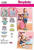 Simplicity Creative Patterns 1238 Ellie The Elephant with Clothes and Carrying Case, Size: Os One Size