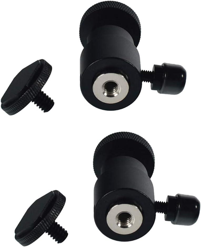 قطعتان من Balacoo برأس كروي صغير 360 درجة للكاميرات حامل ثلاثي القوائم للكاميرا، حامل كروي، حامل قاعدة للكاميرا، برغي 1/4 لهاتف HTC Vive Lighthouses أسود