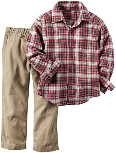 Carter's Baby Boys' 2 Piece Pant Set - 9M - Red Plaid