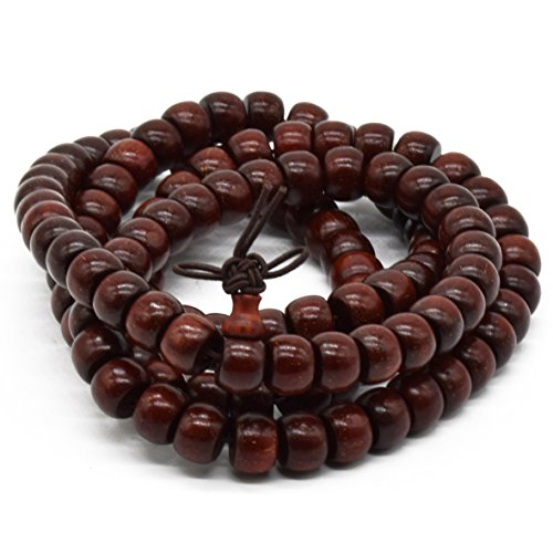 Rel Goods Unisex Natural Zambia Blood Sandalwood Beads Necklace Mala Thuja Handmade Red Wood Prayer Bead Tibetan Buddhism Special Wristband Bracelet (6mm x (Pinterest Halloween Costume Ideas For Couples)