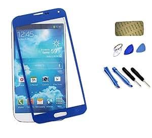 Reemplazo Exterior LCD Pantalla Lente de Cristal para Samsung Galaxy S5 i9600-azul
