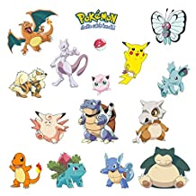"""Pokemon Wall Decals 35"""" x 12"""" Roll - residue free peel n' stick room decor stickers pikachu and friends"""