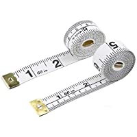 CCINEE White Tape Measure, Double Scale Measuring Tape Size150cm/60inch-1Piece