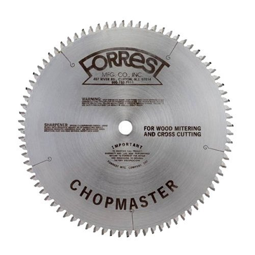 Forrest CM12806115G Chopmaster 12-Inch 80 Tooth 4 PTS + 1 Flat 1/8-Inch Kerf Saw Blade with 1-Inch Arbor by Forrest