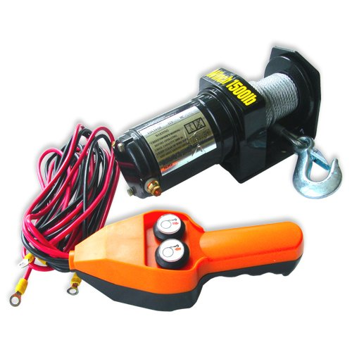 Neiko ATV Electric Cable Winch with Handheld Remote Control – 1500 LB Capacity