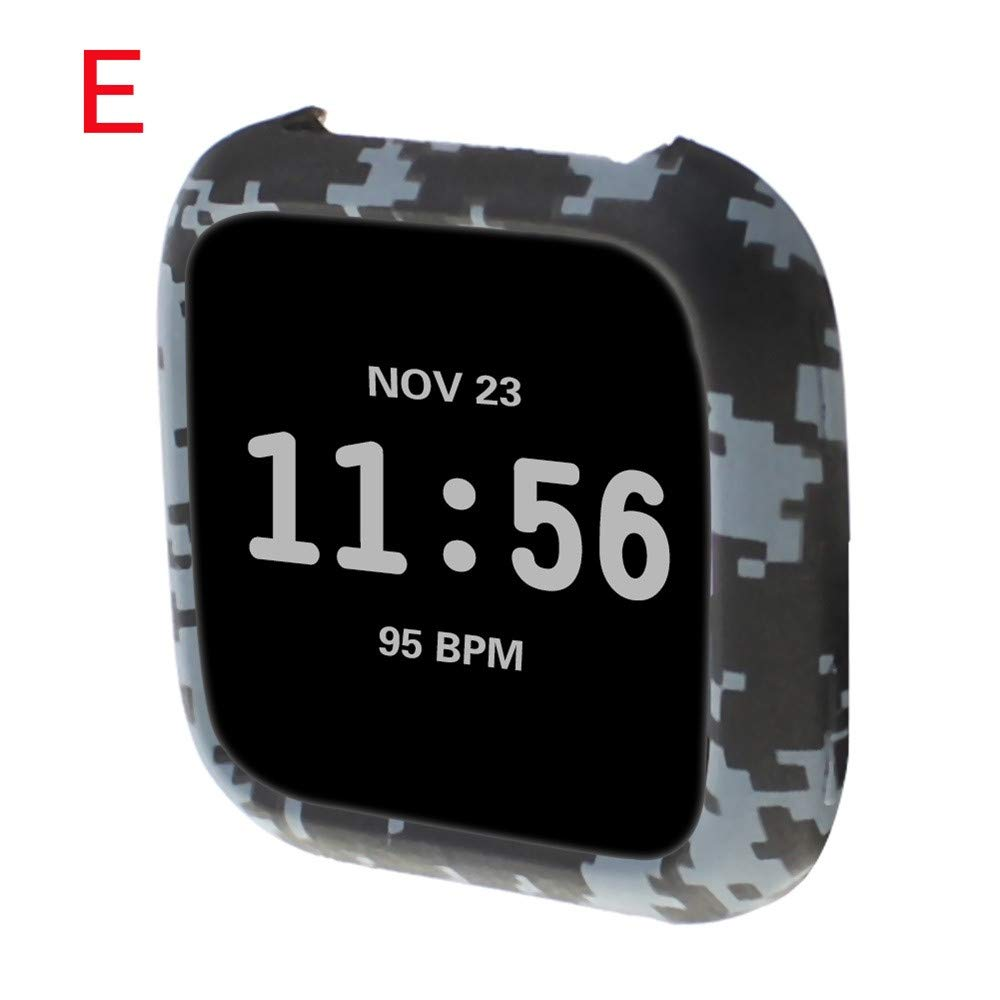 SUKEQ for Fitbit Versa Case, TPU Silicone Screen Protector Watch Casing Guard Rugged Cover Case All Around Protective Bumper Shell for Fitbit Versa Smartwatch (Camo) by SUKEQ (Image #2)