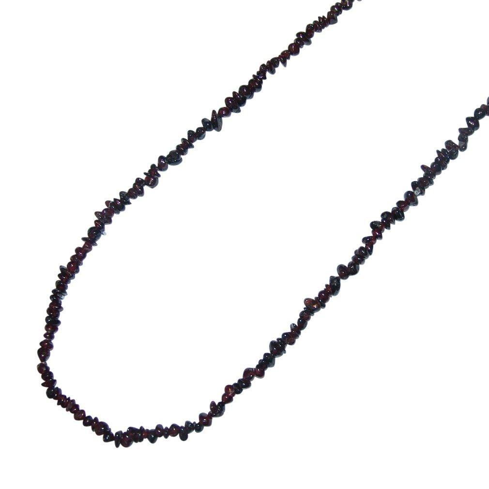 1 Stück Granat Splitter Kette echte Edelsteinkette 90 cm Länge ohne Verschluss.(2623) Janni-Shop®
