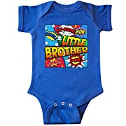 inktastic Little Brother Comic Book Infant Creeper Newborn Royal Blue