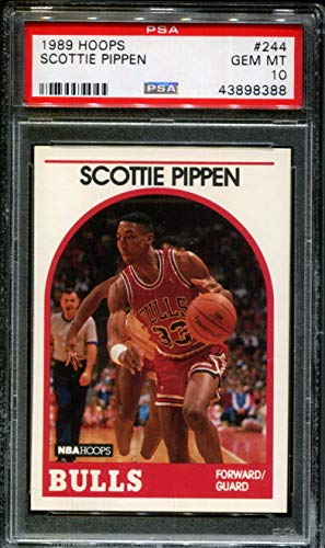 - 1989 HOOPS #244 SCOTTIE PIPPEN BULLS HOF PSA 10 K2703403-388