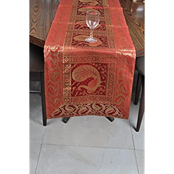 Silk Table Runners For Wedding Decoration, Bright Silk And Smooth Fabric  Party Table Runners 60