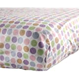Luvable Friends Fitted Crib Sheet, Pink Circle