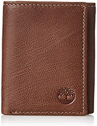 Men's Genuine Leather RFID Blocking Trifold Security Wallet, Brown, One Size
