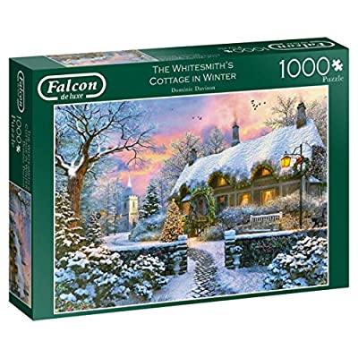 Jumbo 11227 Falcon De Luxe The Whitesmith Cottage In Inverno Puzzle Da 1000 Pezzi