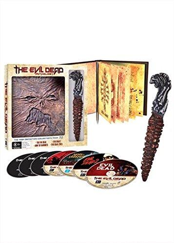 The Evil Dead Anthology - 4 Films (Book of the Dead & Kandarian Replica Prop) - 6-Disc Box Set ( The Evil Dead / Evil Dead II (Evil Dead 2) / Army of Darkness / Evil Dead (2013) ) [ Origine (Blu-Ray)