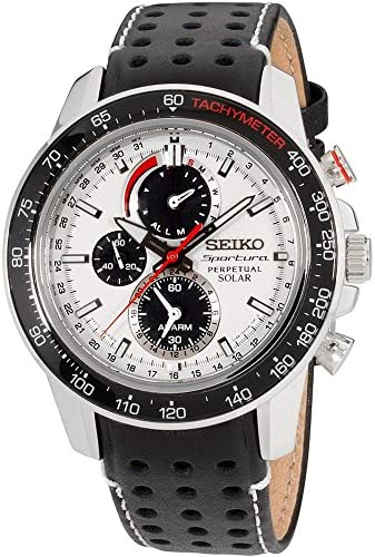 Seiko Men s Sportura Solar Perpetual Chronograph Watch