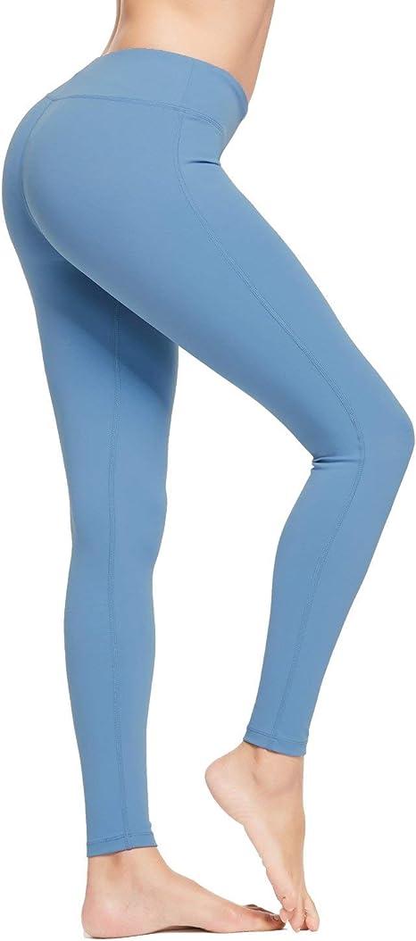 Baleaf Womens High Waist Yoga Capri Leggings Tummy Control Non See-Through Fabric