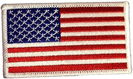 Aufnäher US Army USA Fahne Flagge Aufbügler Patch 8 x 5 cm