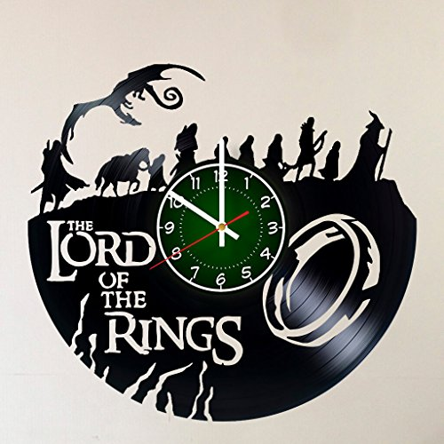 MY GIFT STORE LORD OF THE RINGS 12 INCH 30 CM VINYL RECORD WALL CLOCK Unique Art Design of FRODO – GIFT FOR BOYS – Gandalf Frodo Baggins Aragorn design