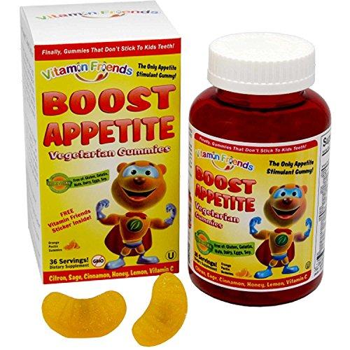 Vitamin Friends, Boost Appetite Vegetarian Gummies, 36 Orange Pectin Gummies - 2pc