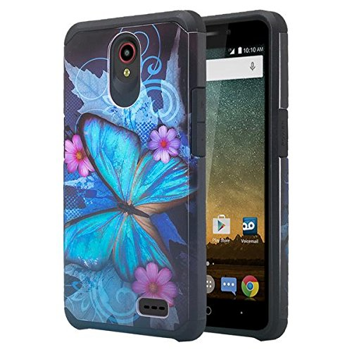 buy popular d3bee 92d93 COVERLABUSA for Compatible for ZTE Maven 3 (Z835) Case/ZTE Overture 3  Case/ZTE Prelude Plus (4G LTE) Case w/[Tempered Glass Screen Protector]  Soft ...