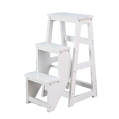 Fantastic Amazon Com 3 Step Step Stool Chair Wood Lightweight And Creativecarmelina Interior Chair Design Creativecarmelinacom