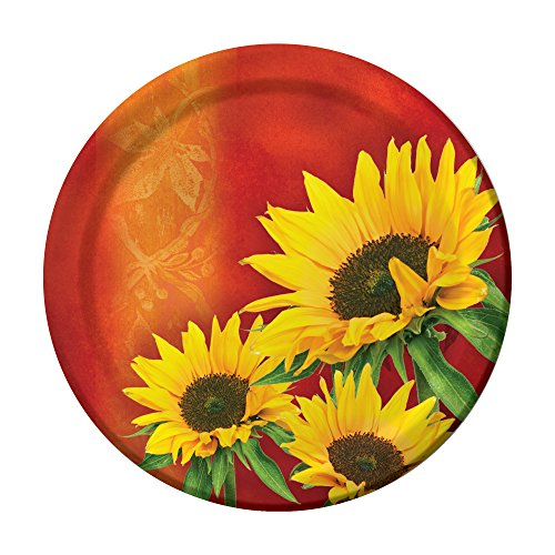 Creative Converting 8 Count Sturdy Style Paper Dinner Plates 8.75  Sunflower Style  sc 1 st  Amazon.com & Sunflower Plates: Amazon.com