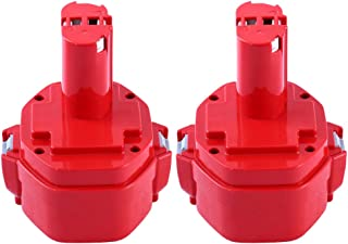 2 Packs 1420 3.0Ah Ni-MH Replacement for Makita 14.4V Battery PA14 1420 1422 1433 1434 1435 1435F 192600-1 193985-8 Cordless Drill