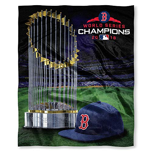 The Northwest Company Boston Red Sox MLB 2018 World Series Champions Silk Touch Super Soft Blanket (50in x 60in)