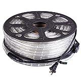 Flexible Lighting Illuminated 546 LED Bulbs Rope Light 50-ft Cool White 110V w/