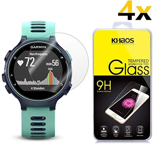 4 Pack Khaos Garmin Forerunner 735xt Tempered Glass Screen