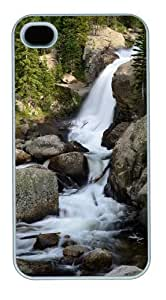 iphone 4 rugged case Landscapes water PC White for Apple iPhone 4/4S