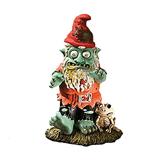 Creepy Halloween Dead Walking Zombie Gnome Garden Statue (Walking Dead Zombie Halloween)