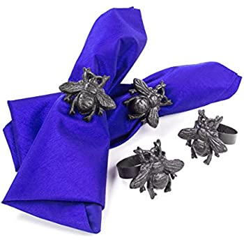 Amazon.com: Farmhouse Metal Bumblebee Napkin Rings, Set of