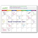 Magnetic Dry Erase Calendar For Fridge Whiteboard – List Important To Do's, Appointments Or Notes (White Monthly Calendar)